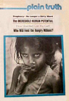 WHO Will Feed The Hungry Millions? Plain Truth Magazine February 8, 1975 Volume: Vol XL, No.2 Issue: