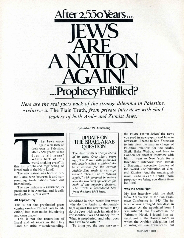 After 2,550 Years... JEWS ARE A NATION AGAIN!...Prophecy Fulfilled?