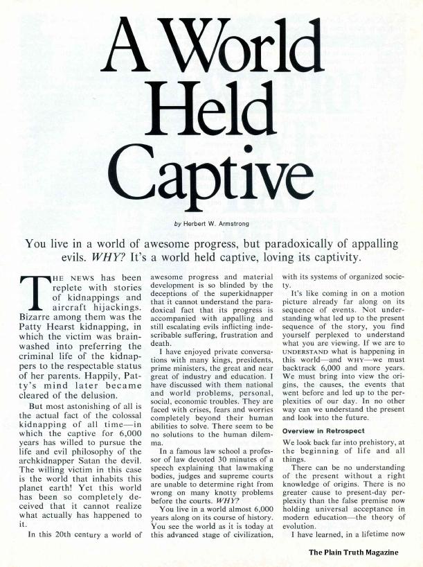 A World Held Captive