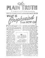 What is Prophesied from NOW ON! Plain Truth Magazine March 1940 Volume: Vol V, No.1 Issue: