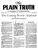 Peace! Peace! There is no Peace! Plain Truth Magazine March-April 1946 Volume: Vol XI, No.1 Issue: