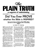 The Handwriting is on the Wall of America NOW! Plain Truth Magazine March 1956 Volume: Vol XXI, No.3 Issue: