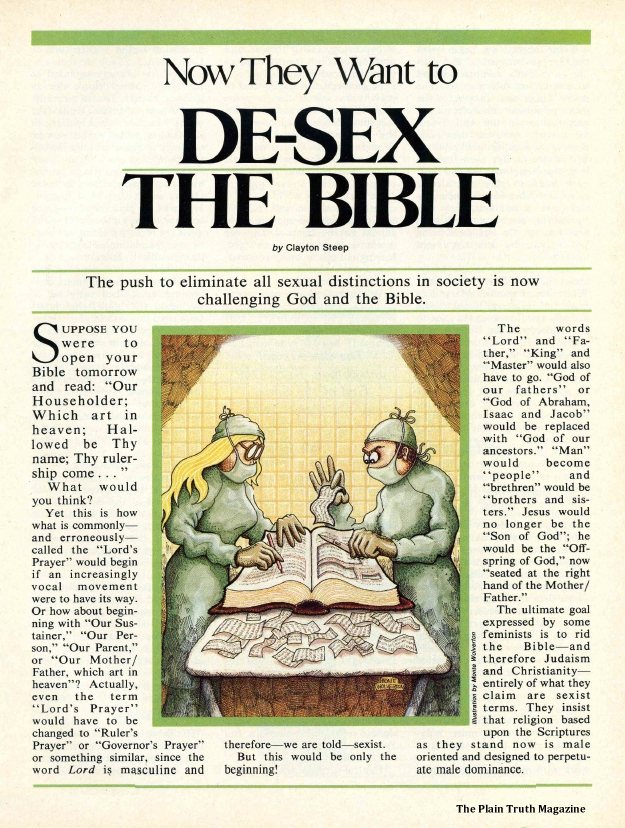 Now They Want to DE-SEX THE BIBLE