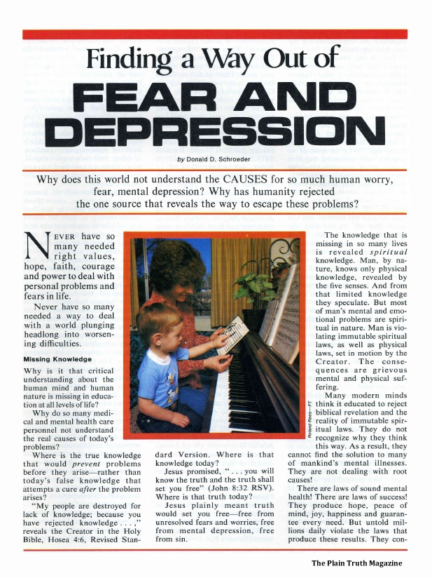 Finding a Way Out of FEAR AND DEPRESSION
