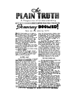 What is the Soul? Plain Truth Magazine April-May 1940 Volume: Vol V, No.2 Issue: