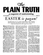 Who is MELCHISEDEC? Plain Truth Magazine April 1950 Volume: Vol XV, No.3 Issue: