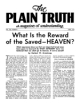 What Is the Reward of the Saved - HEAVEN?