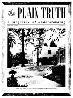 DISEASE EPIDEMICS threaten U.S.A. in 2 years! Plain Truth Magazine April 1956 Volume: Vol XXI, No.4 Issue: