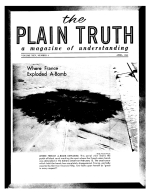The Bible Story - The Plagues Continue Plain Truth Magazine April 1960 Volume: Vol XXV, No.4 Issue:
