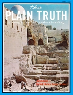 Personal from the Editor Plain Truth Magazine April 1969 Volume: Vol XXXIV, No.4 Issue: