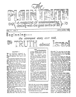 Heart to Heart Talk With the Editor Plain Truth Magazine May-June 1938 Volume: Vol III, No.5 Issue:
