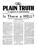 Today's Greatest Religious Hoax! Plain Truth Magazine May 1955 Volume: Vol XX, No.4 Issue: