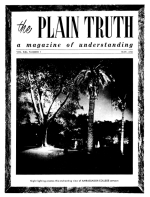EVOLUTION without miracles? Plain Truth Magazine May 1956 Volume: Vol XXI, No.5 Issue: