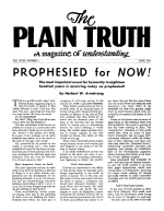 What are the TIMES of the GENTILES? Plain Truth Magazine June 1953 Volume: Vol XVIII, No.1 Issue: