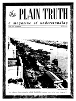 The Bible Answers Short Questions From Our Readers Plain Truth Magazine June 1956 Volume: Vol XXI, No.6 Issue:
