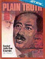 SADAT JOLTS THE KREMLIN! Plain Truth Magazine June 1976 Volume: Vol XLI, No.5 Issue: