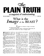 HOW TO BE Saved! - PART II - WATER BAPTISM Plain Truth Magazine July 1949 Volume: Vol XIV, No.2 Issue: