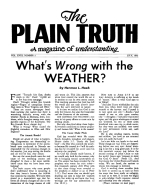 ON THE CAMPUS Plain Truth Magazine July 1953 Volume: Vol XVIII, No.2 Issue: