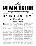 Source of Today's Religious Confusion - Part VIII Plain Truth Magazine July 1954 Volume: Vol XIX, No.6 Issue: