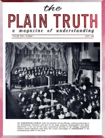 The COLOSSAL LIE! Plain Truth Magazine July 1959 Volume: Vol XXIV, No.7 Issue: