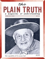 Now Revealed - The FALSE PROPHET of Revelation! Plain Truth Magazine July 1963 Volume: Vol XXVIII, No.7 Issue:
