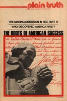 WHO DISCOVERED AMERICA FIRST? Plain Truth Magazine July 12, 1975 Volume: Vol XL, No.12 Issue:
