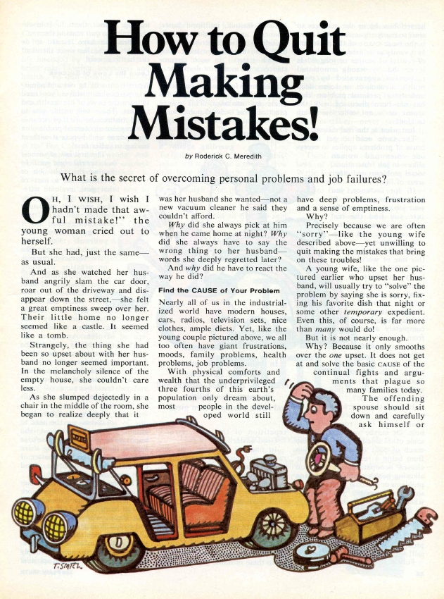 How to Quit Making Mistakes!