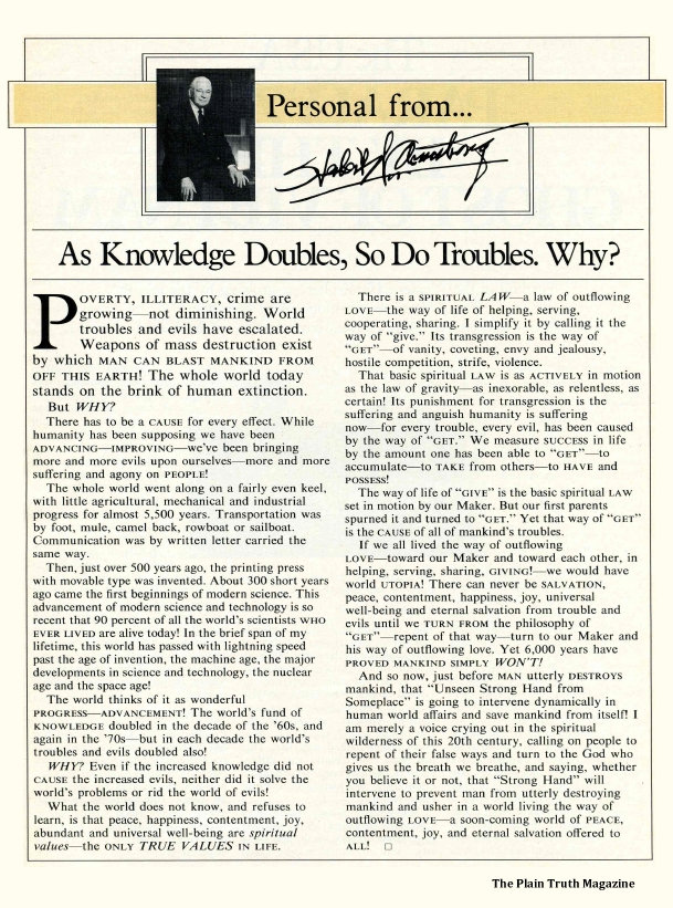 As Knowledge Doubles, So Do Troubles. Why?