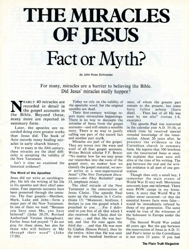 THE MIRACLES OF JESUS Fact or Myth?
