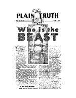 Who is BEAST of Revelation? - Part 1 Plain Truth Magazine August 1934 Volume: Vol I, No.6 Issue: