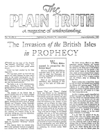 The Invasion of the British Isles in Prophecy Plain Truth Magazine August-September 1940 Volume: Vol V, No.3 Issue: