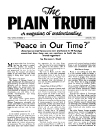 Can the Devil Heal? Plain Truth Magazine August 1953 Volume: Vol XVIII, No.3 Issue: