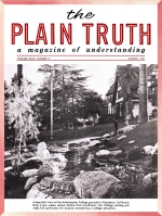 Tragic U.S. WATER CRISIS Here Now! Plain Truth Magazine August 1961 Volume: Vol XXVI, No.8 Issue: