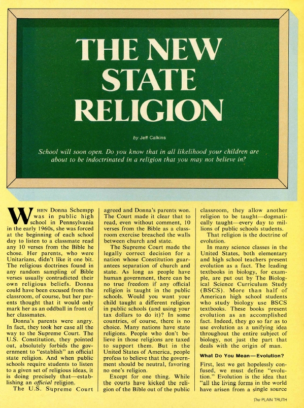 THE NEW STATE RELIGION