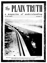 Is OBEDIENCE to God Required for Salvation? Plain Truth Magazine September 1956 Volume: Vol XXI, No.9 Issue: