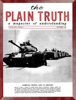 What's Behind the ARAB CRISIS? Plain Truth Magazine September 1958 Volume: Vol XXIII, No.9 Issue: