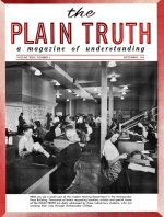 The LISTENING POST of the World Plain Truth Magazine September 1959 Volume: Vol XXIV, No.9 Issue: