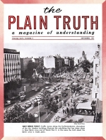 GIANT WORLD POWER Rising out of Common Market Plain Truth Magazine September 1961 Volume: Vol XXVI, No.9 Issue: