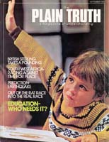 YES NANCY, EDUCATION IS NECESSARY Plain Truth Magazine September 1976 Volume: Vol XLI, No.8 Issue: