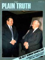 FRANZ JOSEF STRAUSS MAKES HIS BID Plain Truth Magazine September 1979 Volume: Vol 44, No.8 Issue: ISSN 0032-0420