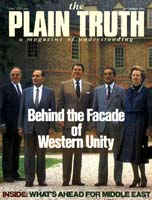 Behind the Facade of Western Unity Plain Truth Magazine September 1983 Volume: Vol 48, No.8 Issue: