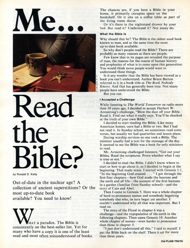 Me... Read the Bible?