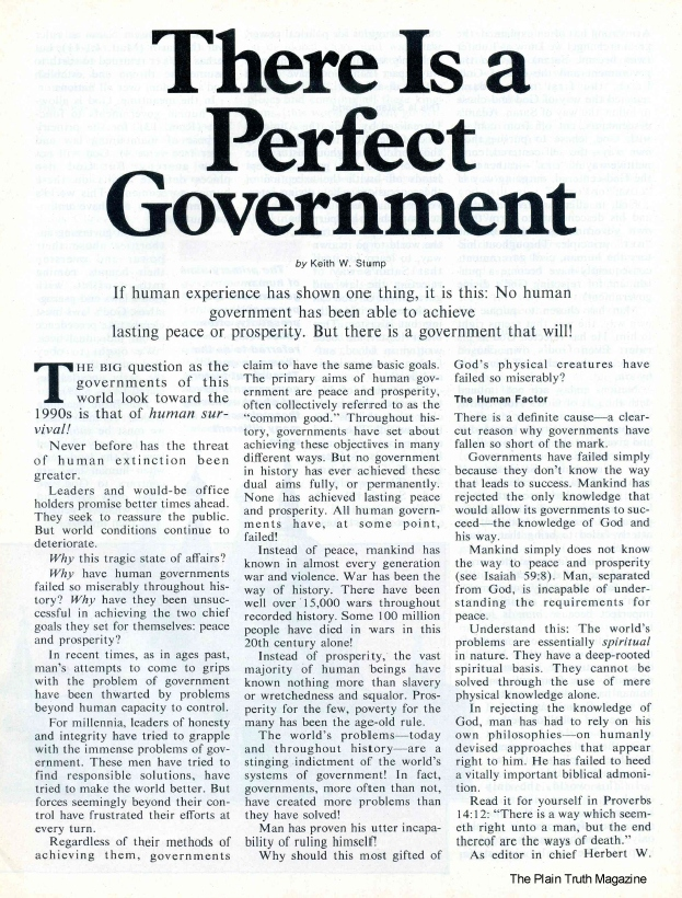 There Is a Perfect Government
