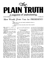 Is All Animal Flesh Good Food? Plain Truth Magazine October 1948 Volume: Vol XIII, No.4 Issue: