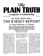 HALLOWEEN Where Did It Come From? - Part XI Plain Truth Magazine October 1953 Volume: Vol XVIII, No.5 Issue: