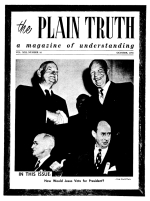 The SUEZ Crisis in Prophecy! Plain Truth Magazine October 1956 Volume: Vol XXI, No.10 Issue: