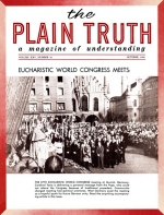 PAPACY Answers Red Threat! Plain Truth Magazine October 1960 Volume: Vol XXV, No.10 Issue: