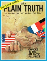 BUT WHO SPEAKS FOR EUROPE? A CONVERSATION WITH J. ROBERT SCHAETZEL Plain Truth Magazine October 1973 Volume: Vol XXXVIII, No.9 Issue: