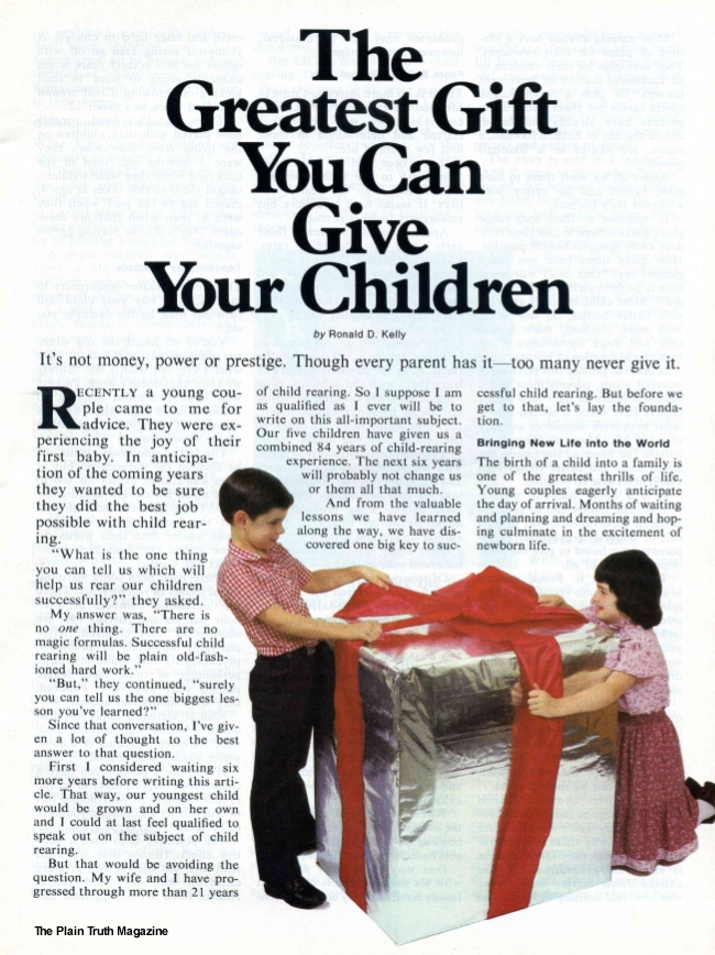 The Greatest Gift You Can Give Your Children