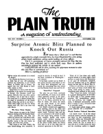 Heart to Heart Talk With the Editor Plain Truth Magazine November 1948 Volume: Vol XIII, No.5 Issue: